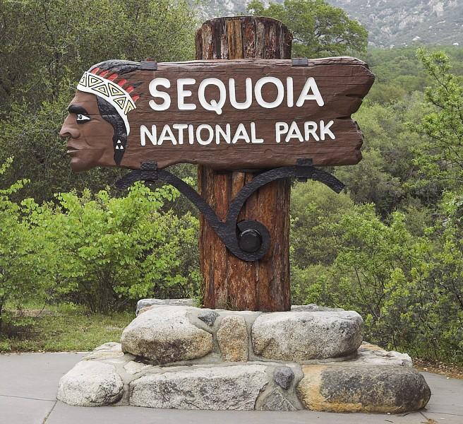 Einfahrt in den Nationalpark