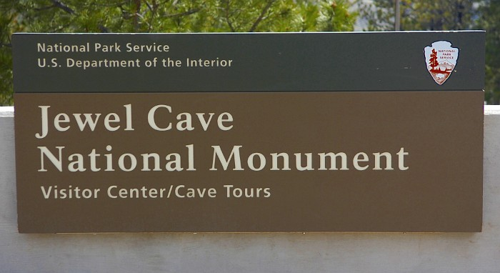 Sign Jewel Cave